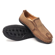 Men Microfiber Leather Hand Stitching Soft Non Slip Driving Loafers