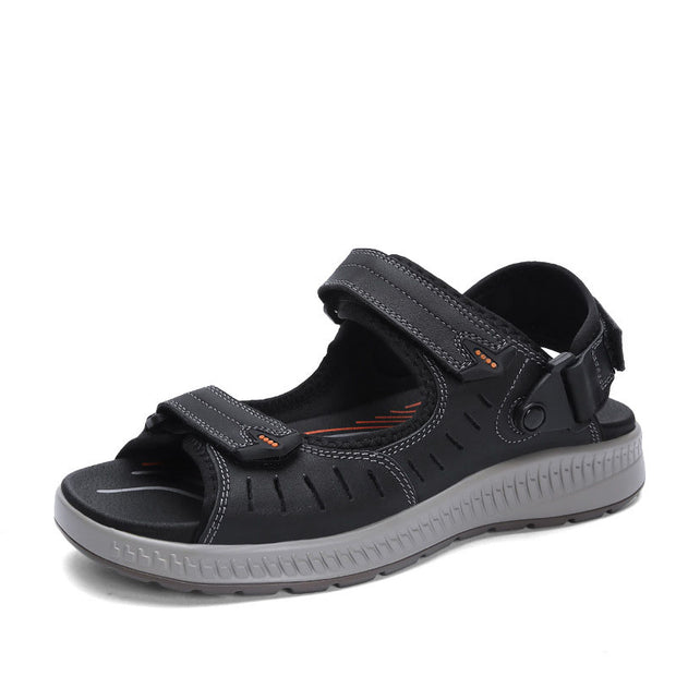 Men's new style fertilizer Velcro leather sandals