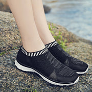 Women's Slip On Mesh Sparkle Casual Shoe Mesh  Sneakers Flyknit