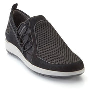 Women's Black nubuck leather upper mesh shoes
