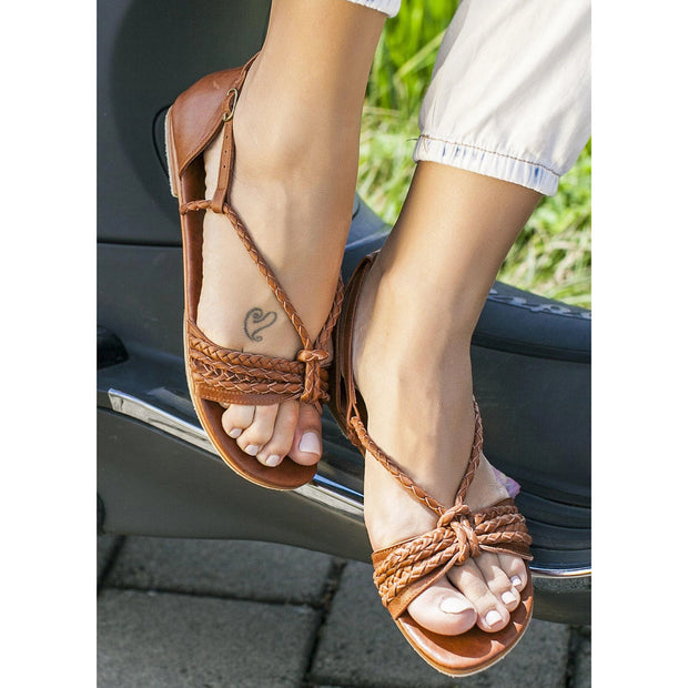 Women's handmade Leather Strappy Sandals
