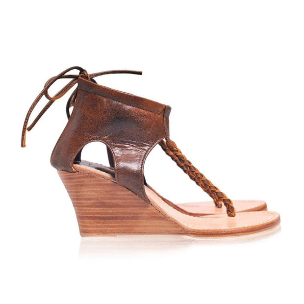 Women's handmade Leather Wedge Sandals