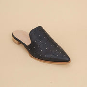 Women's  Ball Studded Pointed Mule