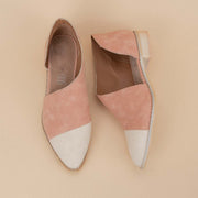 Women's Asymmetric Pointed-Toe Flat - Cream