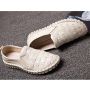 Women's handmade retro soft leather flat shoes slip-on  sandals casual shoes
