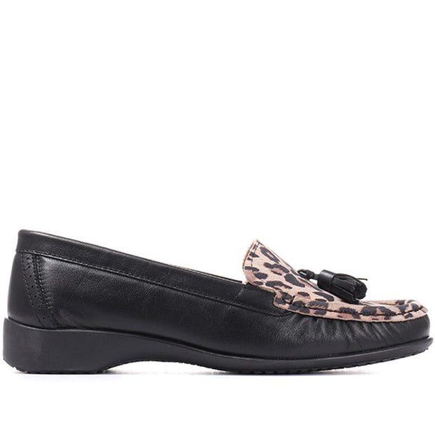 Women's Leather Moccasin Tassel Loafer