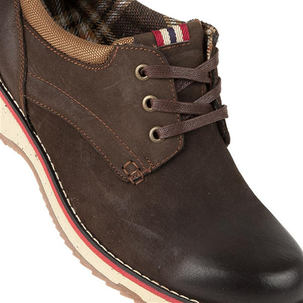 Men's Casual Leather Lace Up with Contrast Sole