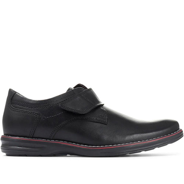 Men's Lightweight Leather Touch Fastening Shoes