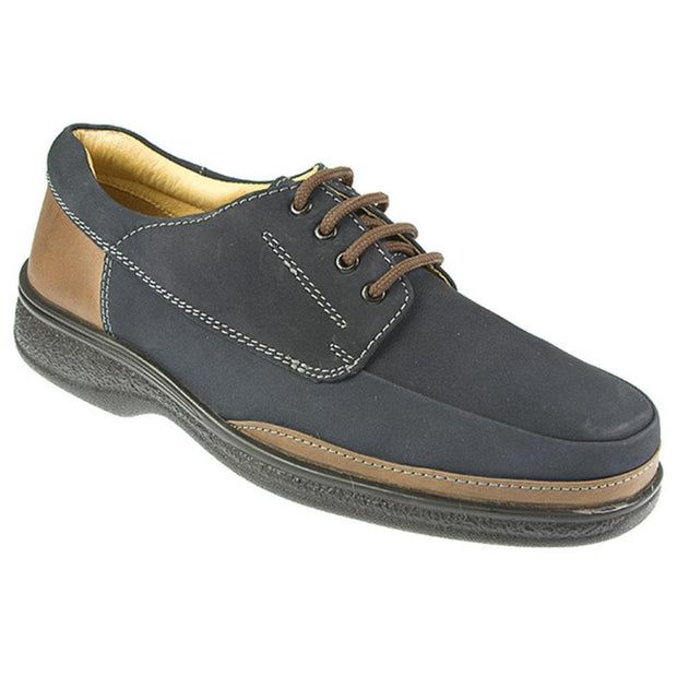 Men's Leather Lace Up Shoe with Cushioned Support