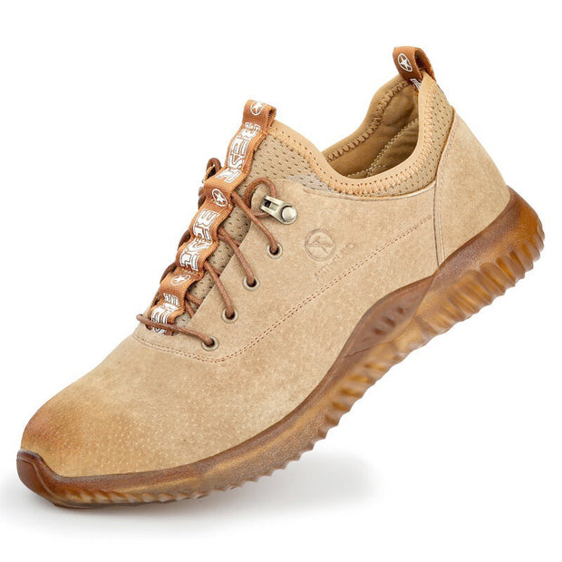 Men's Steel Toe Cape Anti Smashing Lace Up Slip Resistant Outdoor Safety Shoes