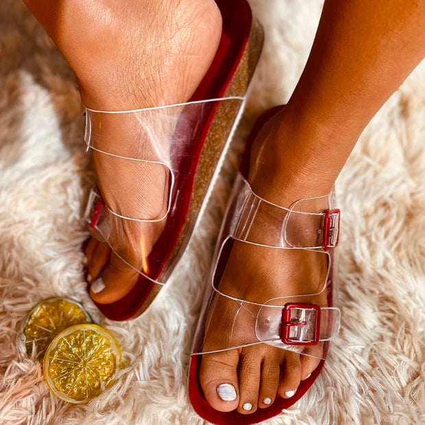 Women's Crystal Transparent Jelly Casual Slippers