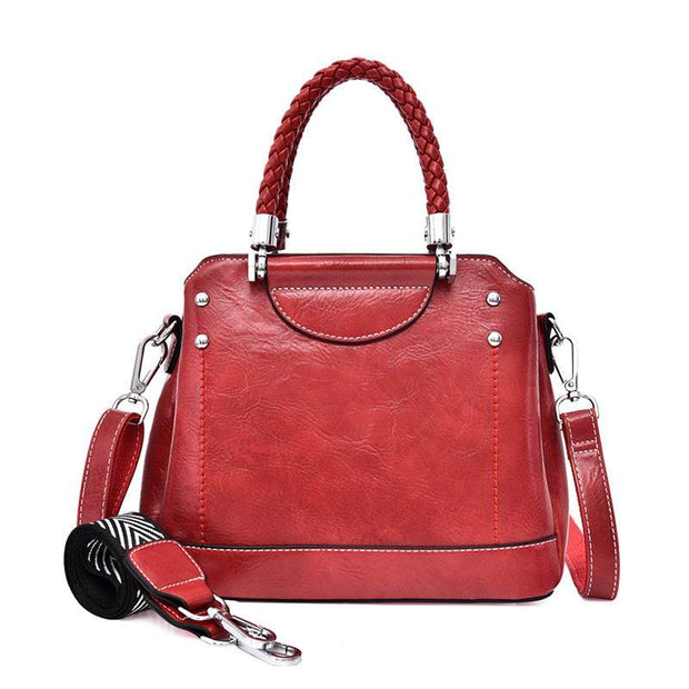 Women's Classic High Quality Solid Large Capacity Multifunctional Zipper Handbags