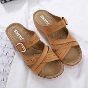 Women's  car line anti-skid sea resort beach slope comfortable slippers