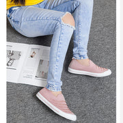 Women's breathable low set foot lazy comfortable flyknit shoes