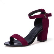 Women's Two Part Block Heeled Sandals