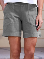 Women Pockets Shift Casual Summer Shorts