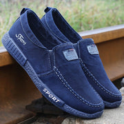 Men's Canvas Soft Sole Slip On Casual Loafers
