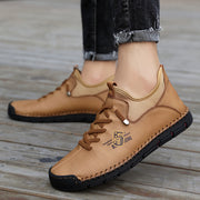 Men's Hand-stitched Microfiber Leather Non Slip Casual Ankle Boots