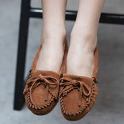 Women's Comfy Slip On Suede Moccasins