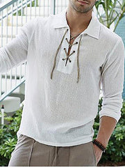 Cotton and linen shirt for men