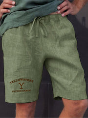 Men's Yellowstone Dutton Ranch Printed Shorts