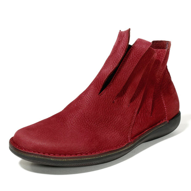 Women's Vintage Low Heel Daily Pu Boots