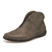 Women's Comfy Vintage Low Heel Slip-On Pu Boots