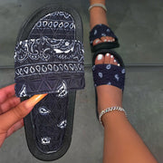 Women's Comfy Bandana Slip-On Slippers Slide
