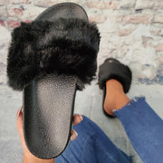 Women Large Size Casual Fluffy Fluff Slippers