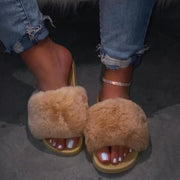 Women's Large Size Fluffy Fluff Slippers