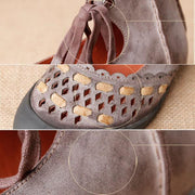Women's Leisure Round-Toe Retro Flats