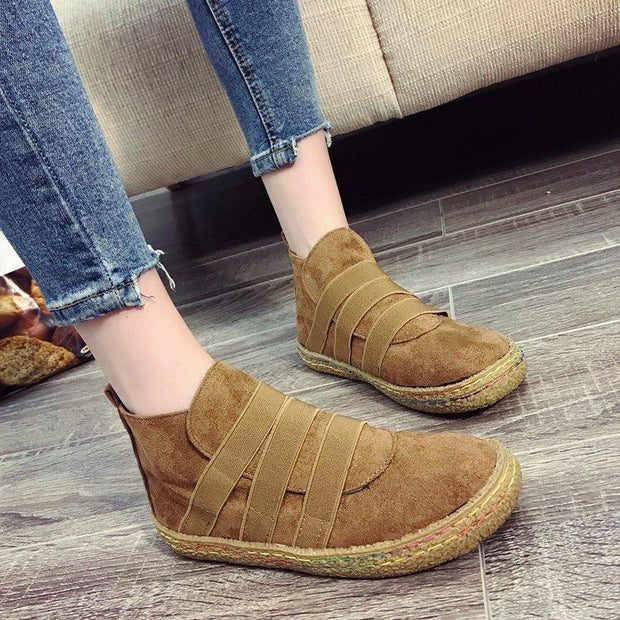 Women's  Elastic Band Flat Sneakers