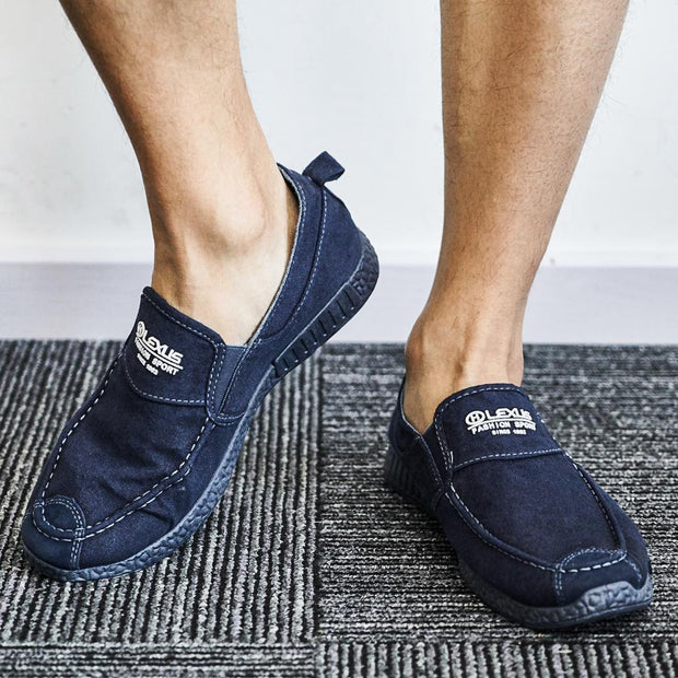 Men Washed Canvas Comfy Soft Sole Slip On Casual Shoes(Second -30% by code:BTS30)