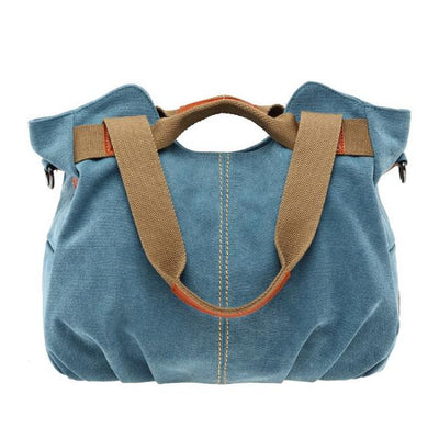 Women Canvas Shoulder Cross Body Bag Handbag