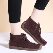 Women's Plus Cotton Lace-up Brief Boots