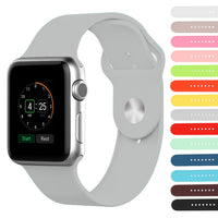 Sport Silicone band For Apple Watch Band Series 5/4/3/2/1 42mm 44mm 38mm 40mm