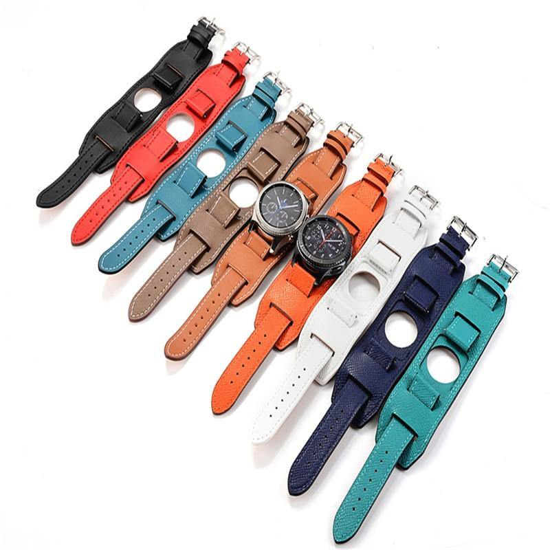 Genuine Leather Cuff Bracelet Band For Samsung Galaxy Watch