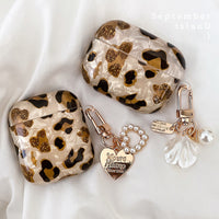 Luxury Leopard Pearl Case for Apple Airpods 1 2 3 Pro Case