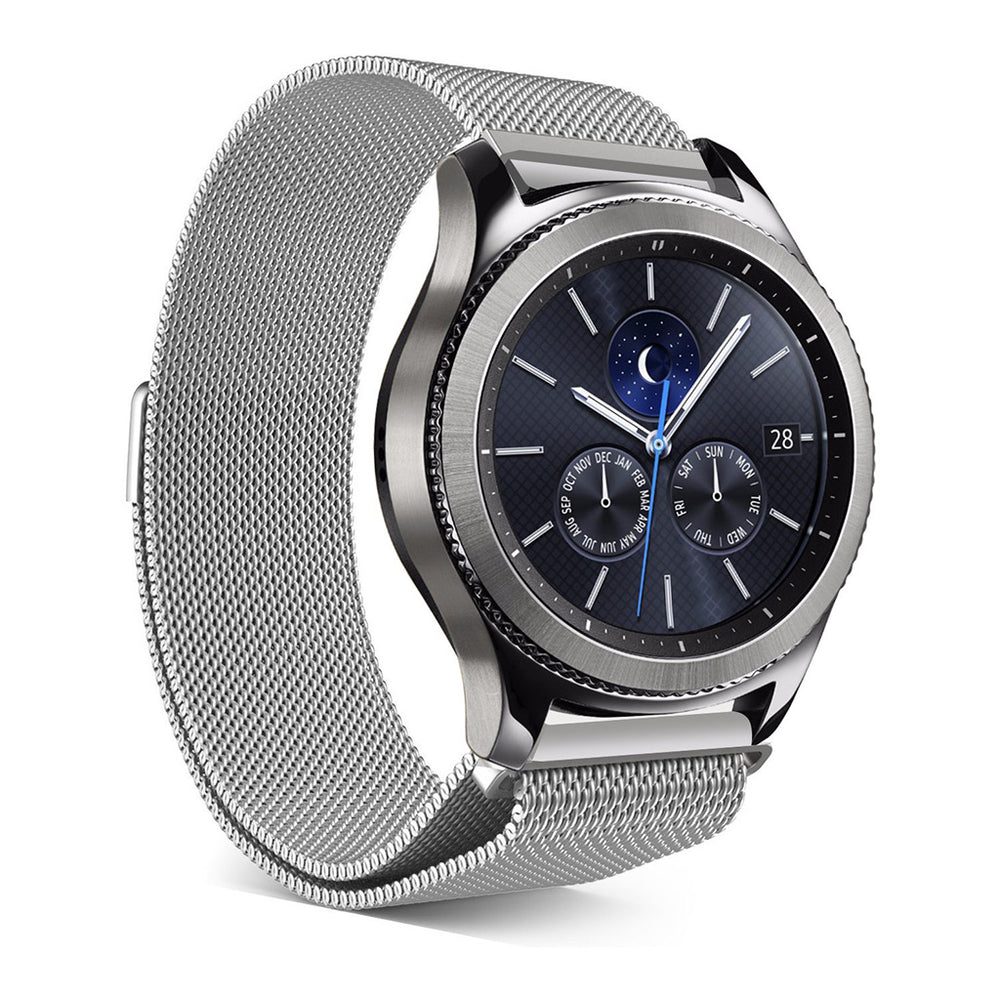 Steel Milanese mesh band for Samsung Gear S3 Classic & Frontier