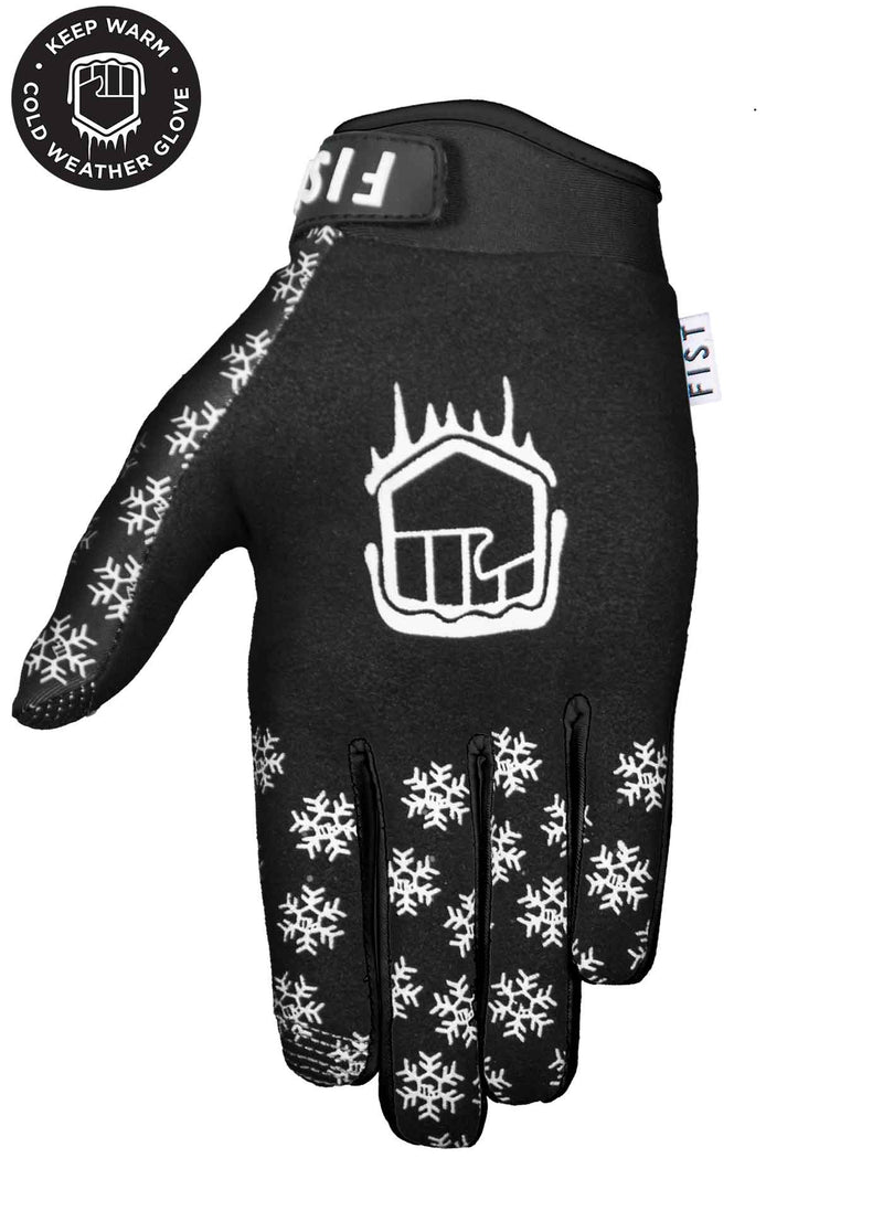 Frosty Fingers COLD WEATHER - Black Snowflake Glove