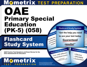 OAE Primary Special Education (PK-5) (058) Flashcard Study System