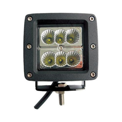 "MAX POWER 3"" CREE SQUARE SPOT LIGHT; 18 WATTS"