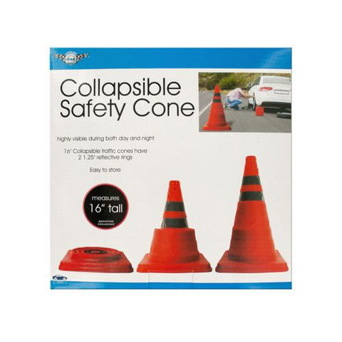 Collapsible Traffic Safety Cone with Reflective Rings ( Case of 3 )