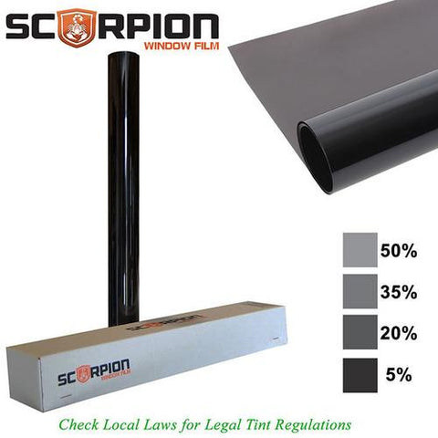 "Scorpion Window Tint Sahara Series 1 ply 20% 36""x 100' roll Extruded Dye 4 Year Warranty"