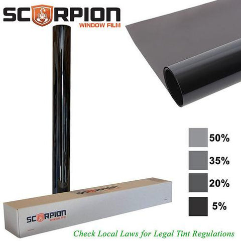 "Scorpion Window Tint Sahara Series 1 ply 20% 40""x 100' roll Extruded Dye 4 Year Warranty"