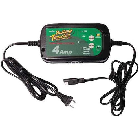 Battery Tender 12-volt And 6-volt Switchable 4-amp Battery Charger BAT0220209DLWH