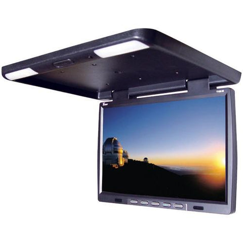 "MONITOR 15.4"" TVIEW OVERHEAD; BLACK; REMOTE; IR TRANSMITTER"