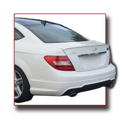 Unpainted 2012-2015 Mercedes C Class Coupe Spoiler Factory Style