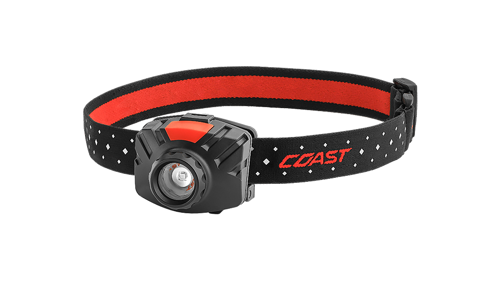 COAST FL70 435 Lumen LED Headlamp with Reflective Safety Strap, front photo