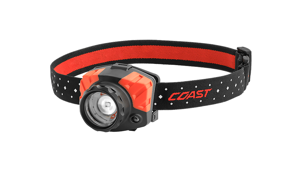 COAST FL85 615 Lumen Dual Color LED Headlamp with Reflective Safety Strap, front photo